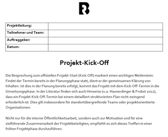 Projektmanagement Kick-Off